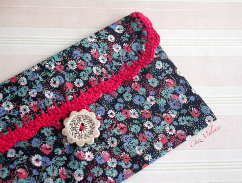 crochet,pochette,maquillage,trousse